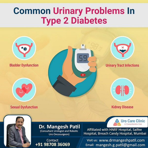 Common urinary problem in type 2 diabetes patients